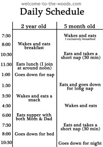 toddler and baby schedule mash up welcome to the woods