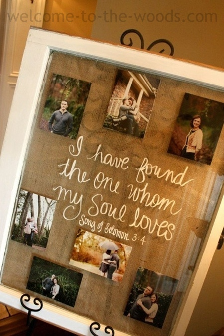 """I have found the one whom my soul loves"" old window pane wall decor"