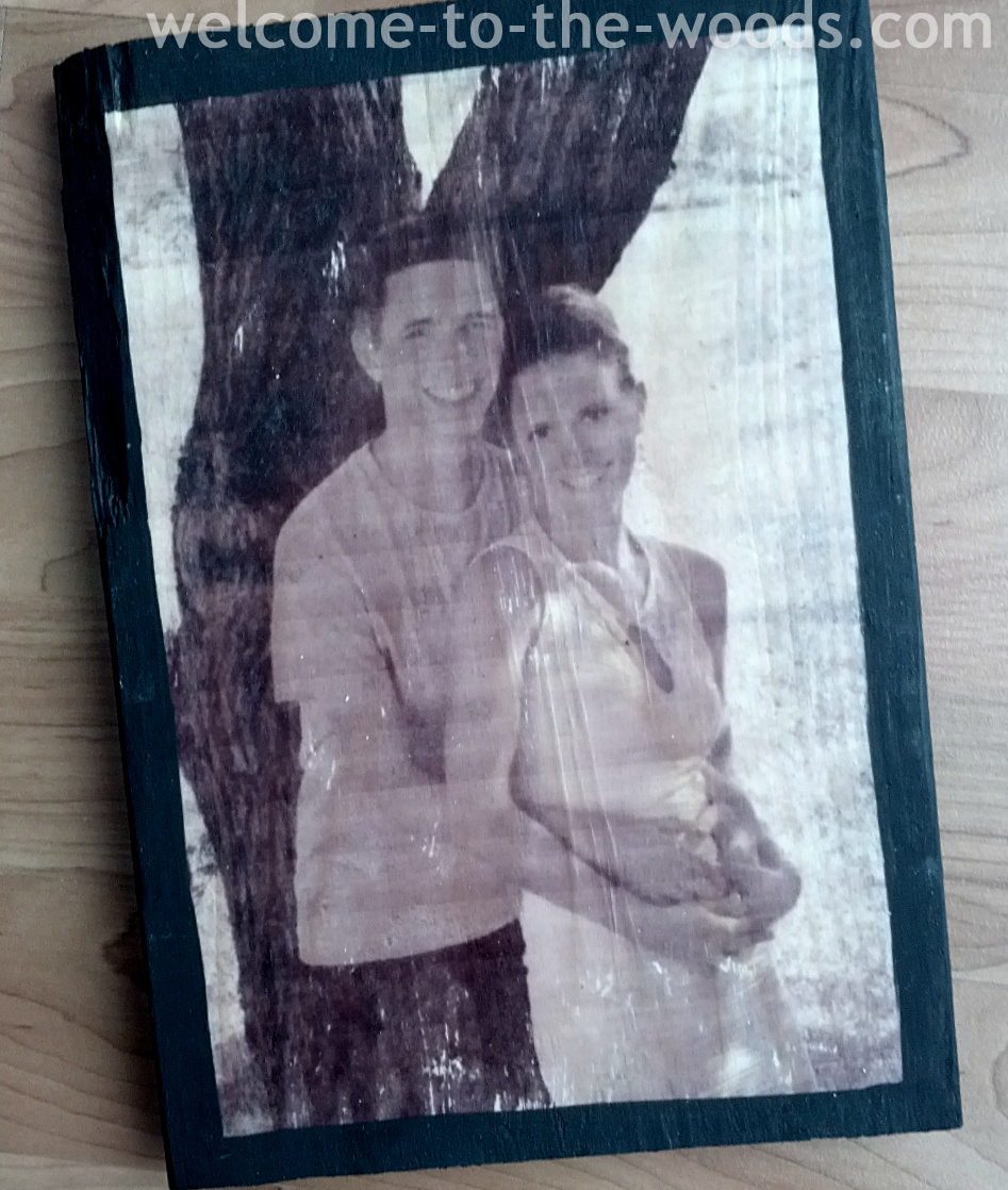 Tissue Paper Photo Transfer To Wood