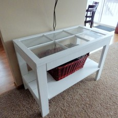 white barn window table