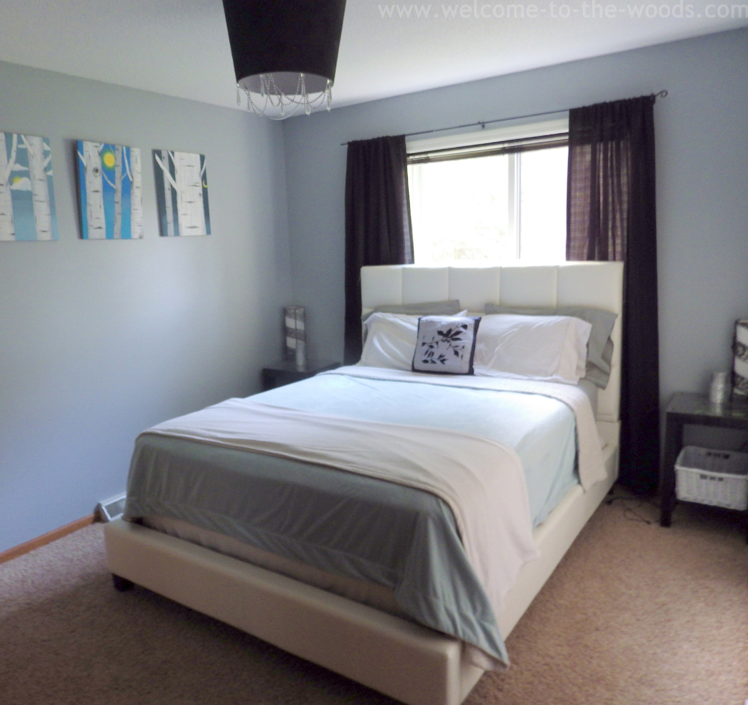 Master bedroom gray