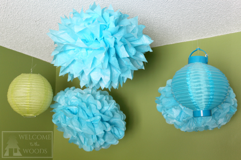Learn how to make your own tissue paper poofs pom poms perfect for parties and kids room decor!