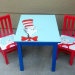Dr. Seuss Table and Chairs Makeover – Cat in the Hat