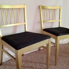 gold mid century modern chairs