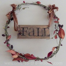 wood pallet wreath grapevine fall autumn sign