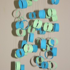 blue green mobile made from toilet paper rolls craft