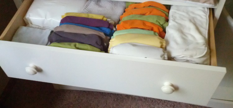 cloth diapers in drawer