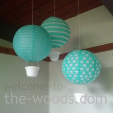 hot air balloon nusery decor diy
