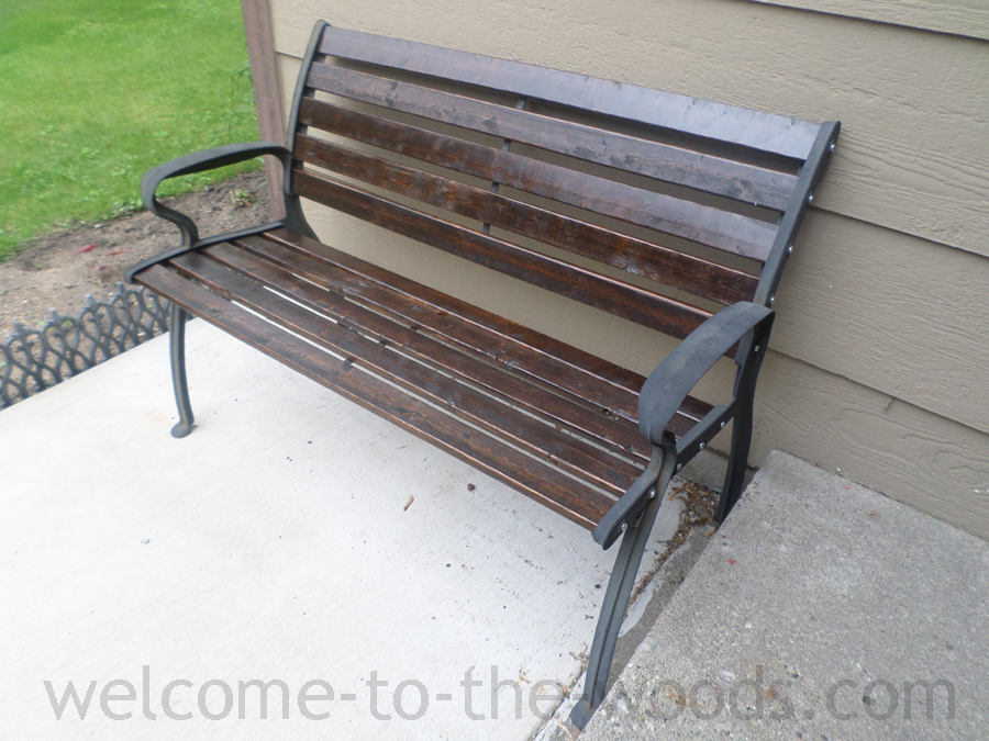 Entryway Park Bench Upcycle Welcome To The Woods