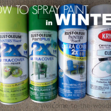 How to spray paint in winter, even when temperatures are below freezing! I love these painting tips!