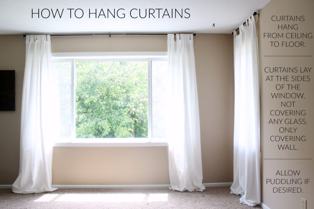 Hanging curtains the best way to let the most light into your space and make your room feel larger.