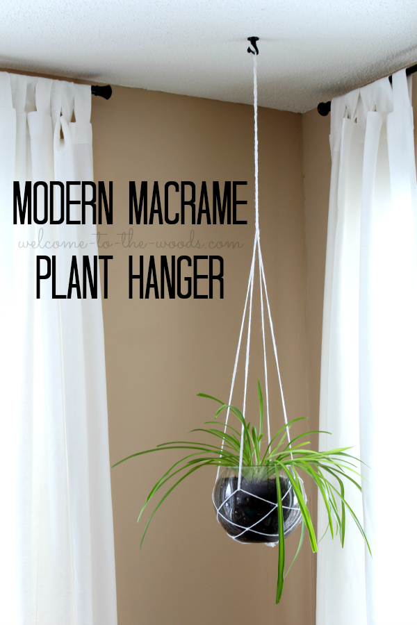 How to make a modern macrame plant hanger using string & a fish bowl. This is such a simple and beautiful idea for displaying greenery in your home.