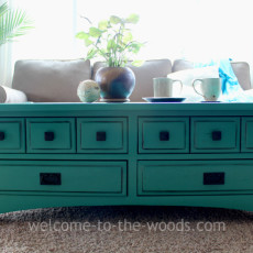 Bright colored furniture painted painting makeover transformation