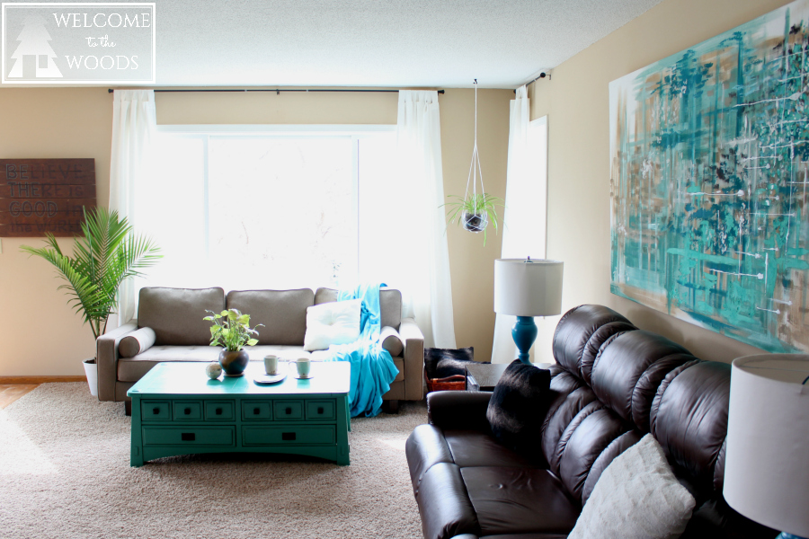 Mismatched Sofas In Living Room