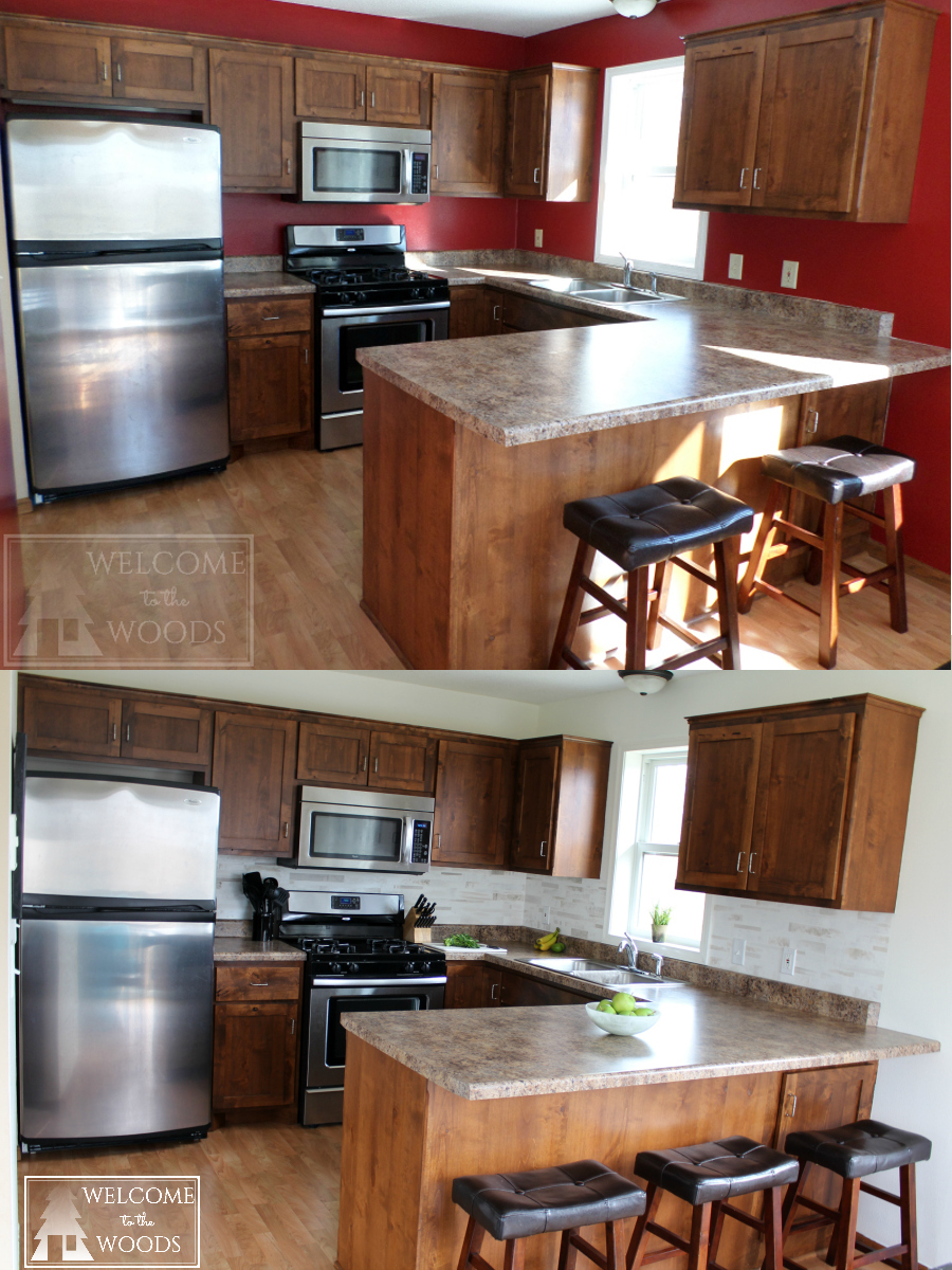 Kitchen Cabinets Before And After Regarding Painting Kitchen Cabinets