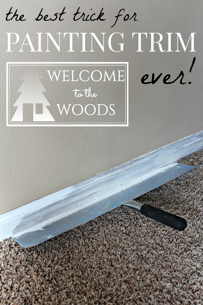 hallway makeover white trim reveal welcome to the woods