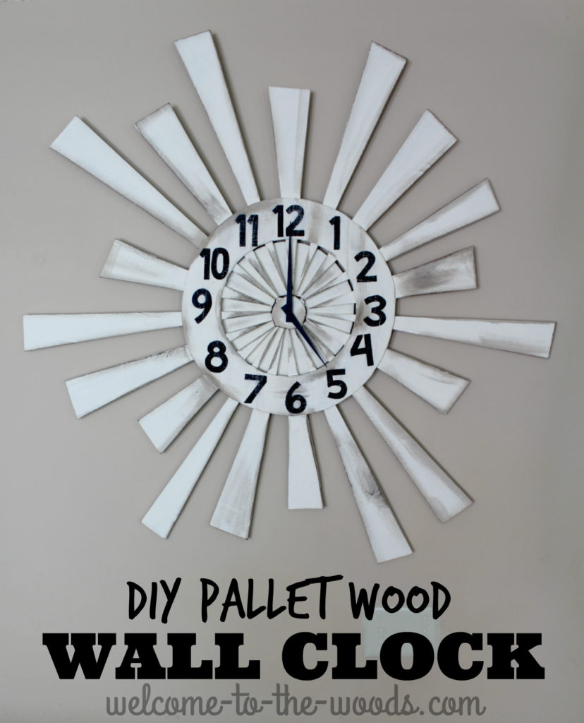Pallet Wood Wall Clock - Welcome to the Woods