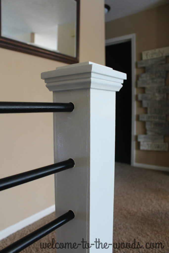 How to use steel metal conduit to create a new stair railing. This diy makeover is unbelievable -- PIN NOW and watch the video tutorial!
