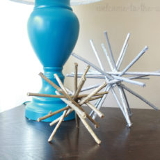 Make these knockoff Target decor pieces yourself with sticks and spray paint. So easy!