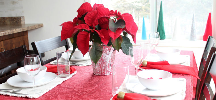 Holiday Home Tour 2016 Poinsettia Themed