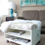 "Ottoman Makeover ""Spray It Pretty"" by HomeRight"