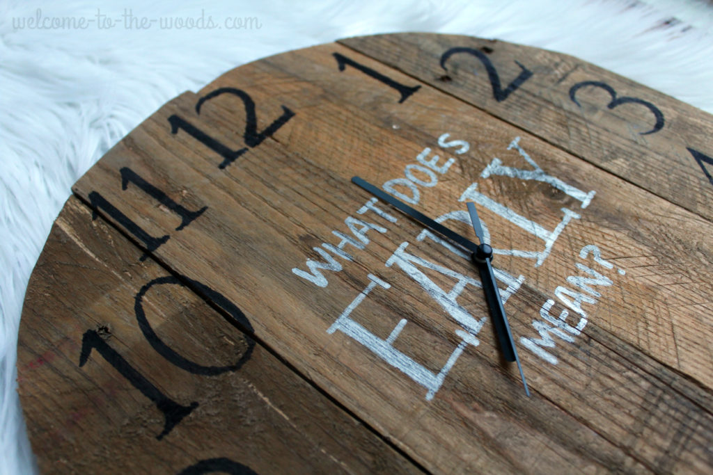 DIY Clock From Pallet Wood is a really cool project you can watch a video of how she did it, plus a homemade stain recipe!