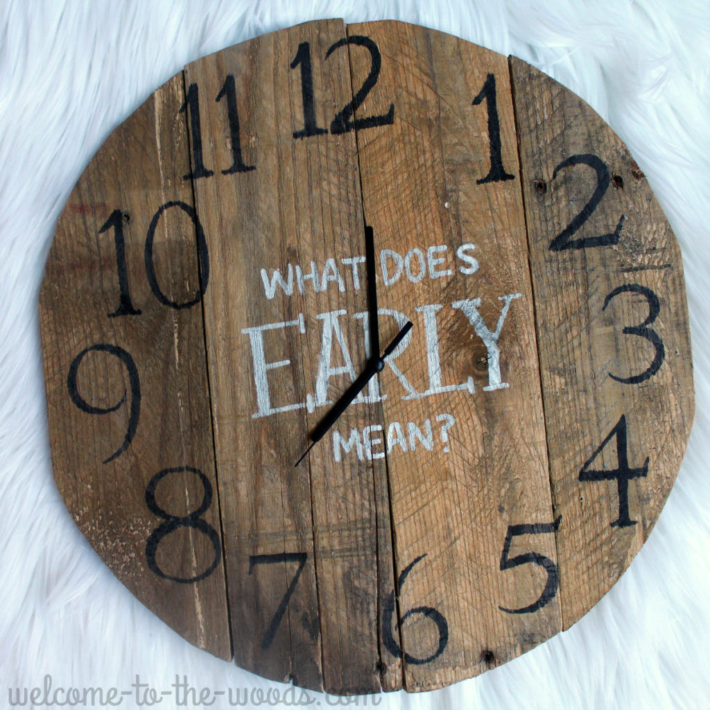 Come watch the video of how to make this diy clock with pallet wood. Super cool!