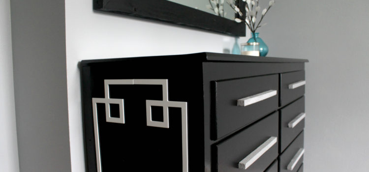 Black Modern Dresser Redo: Cut 'n Paste With O'verlays