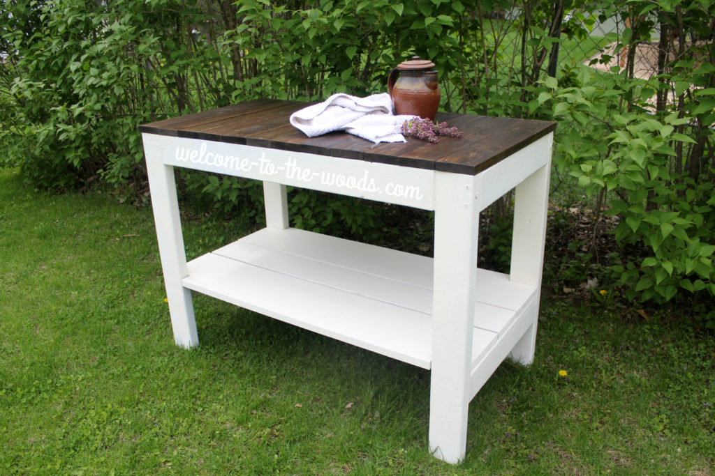 I love this farmhouse inspired table and the simplistic lines of the furniture. You could even use it as a desk or island!