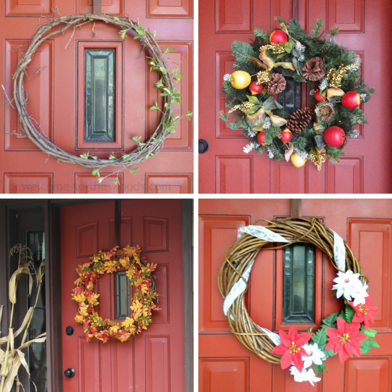 With a red front door, wreaths look beautiful for any occasion, especially the holidays!