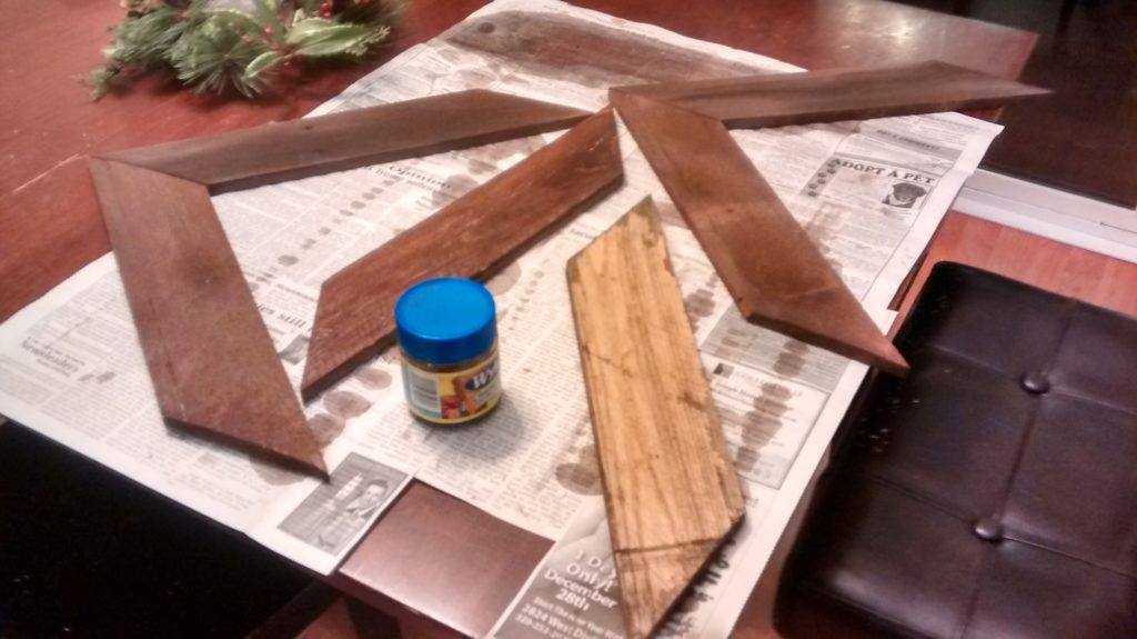 Staining pallet wood with homemade stain