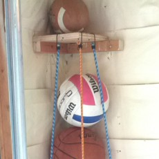 build a ball corral for your garage sports equipment storage