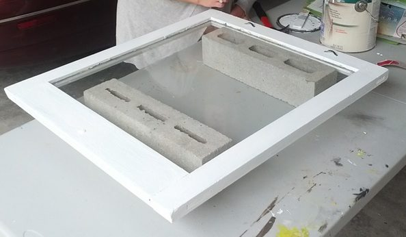 Painting window frame white