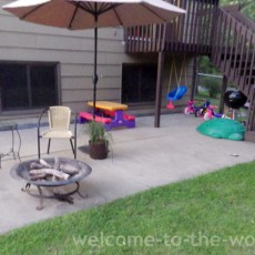 patio kids play space makeover