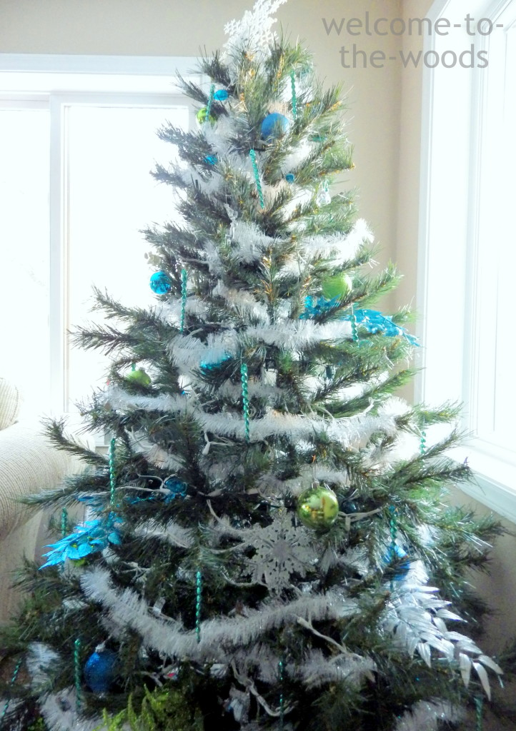 silver blue christmas tree - Lime Green And Blue Christmas Decorations
