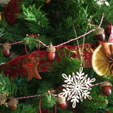 christmas tree ornament made of food diy