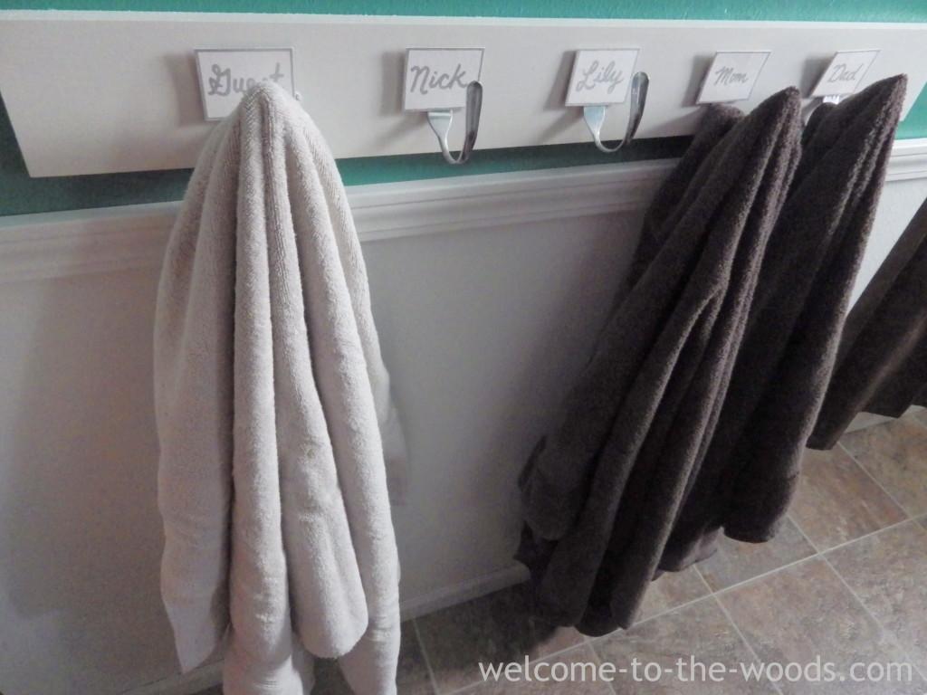 Bathroom Hooks Forks Spoong Silverware Flatware Towels