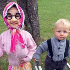 baby toddler as elderly halloween costume