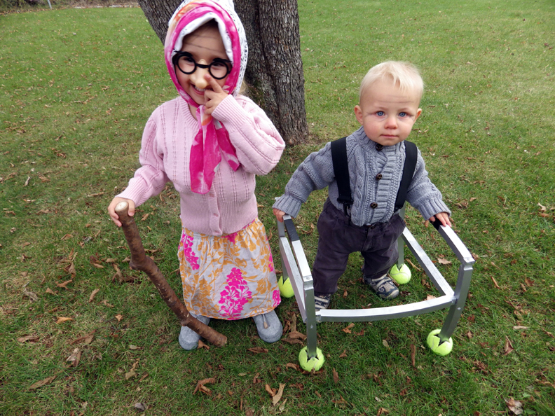 Baby As Elderly Halloween Costume Welcome To The Woods