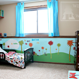 Dr. Seuss theme bedroom