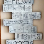 Pallet Sign for Discipline & Decor