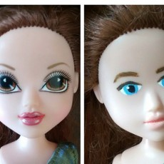 makeover dolls paint faces