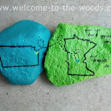 going away gift idea painted rocks two states