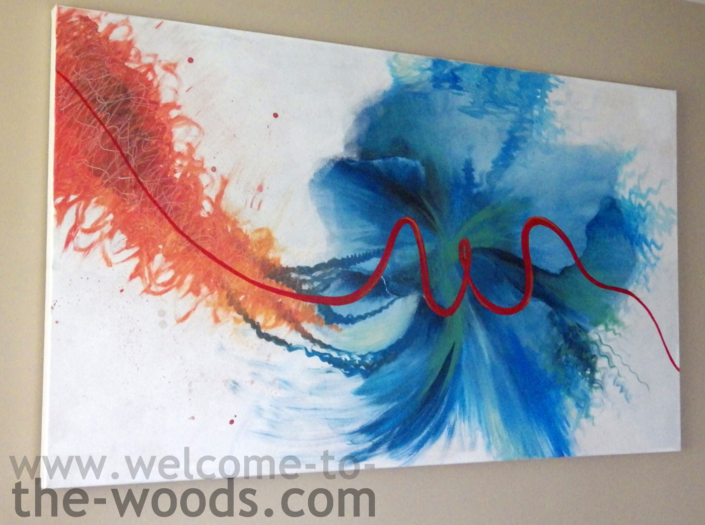 Abstract Family Painting Welcome To The Woods