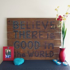 inspirational wood pallet sign