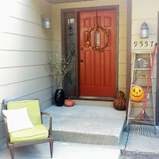 autumn fall decor front entrance door entry