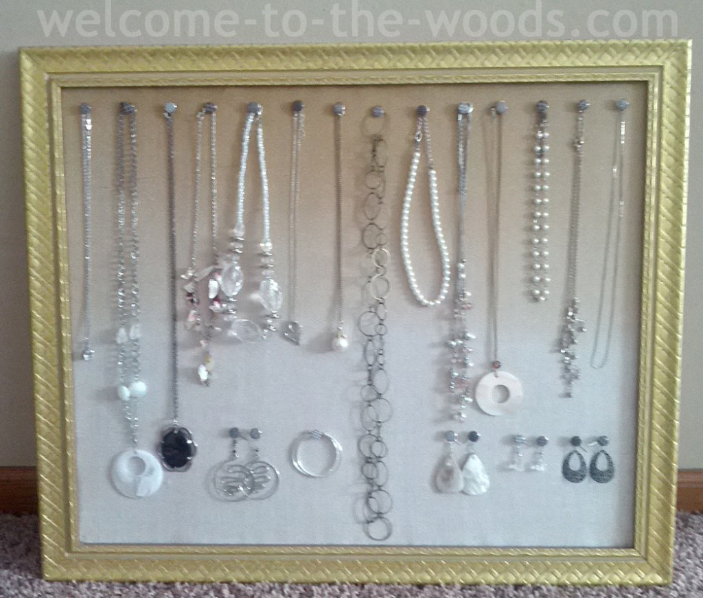 DIY Jewelry Organizer Welcome to the Woods