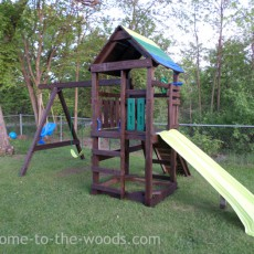 colorful blue green playground makeover transformation