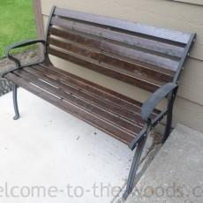 wood park bench redo