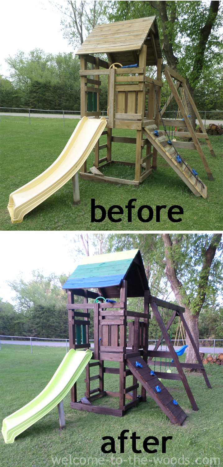 Playhouse Outdoor Makeover